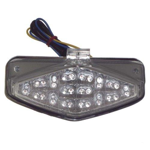 - 2011 Honda CBR 1000R Integrated LED Brake Light + Turn Signal Tail Light [Clear]
