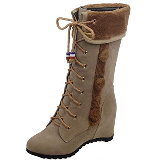 Women Winter Shoes Hidden Heel Mid Boots