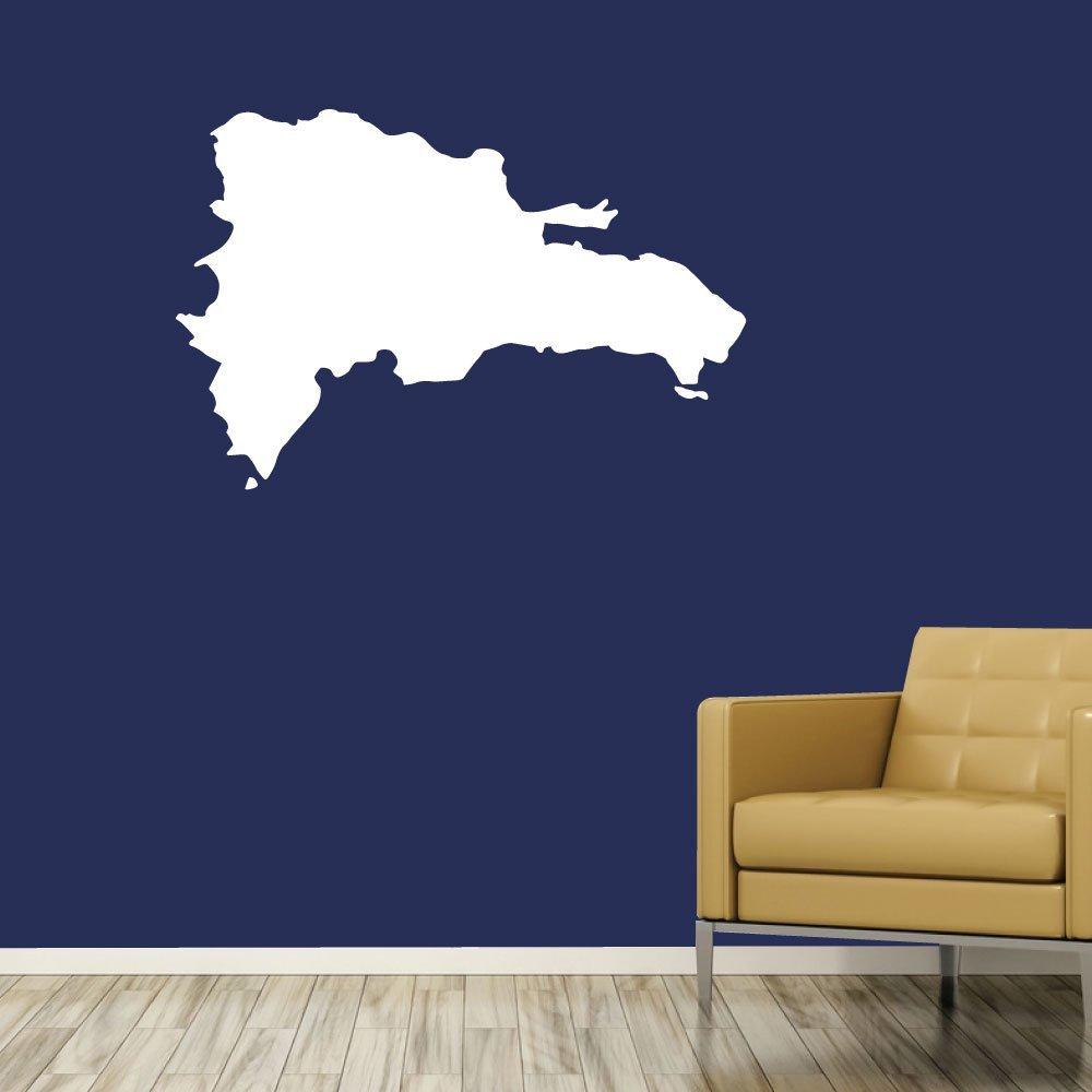 0424 - Home Decor - Wall Decor - Dominican - Map - Country Decal - República Dominicana: Handmade