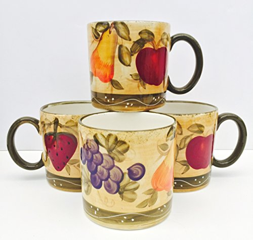 Tuscan Collection Deluxe Handcrafted 4-Piece Coffee Mug Set