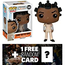 Suzanne Crazy Eyes Warren: Funko POP! x Orange Is the New Black Vinyl Figure + 1 FREE American TV Themed Trading Card Bundle [57923]