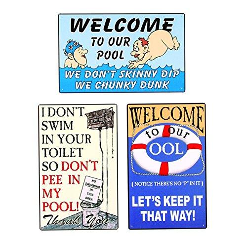 Pool Metal Sign - Humorous
