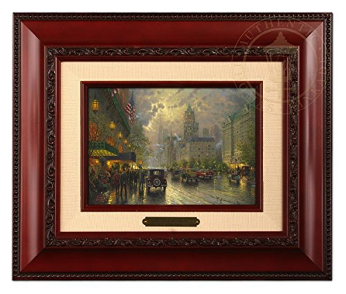 - Thomas Kinkade New york Fifth Avenue Brushwork (Brandy Frame)