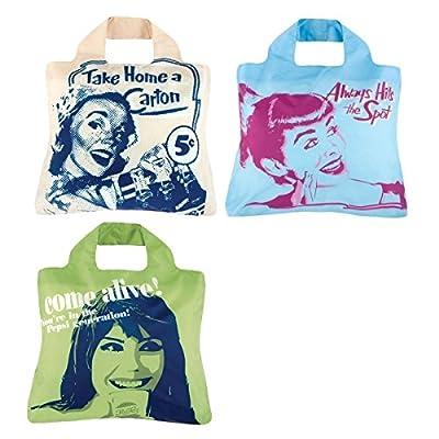 Envirosax Eco-Friendly Pepsi Heritage Reusable Shopping Bags (set of 3)