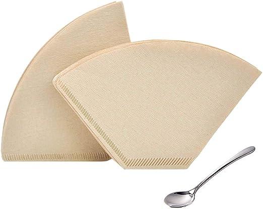 Filtros de café de papel sin blanquear, a granel # 4, filtro de ...
