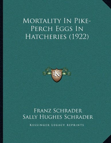 Mortality In Pike-Perch Eggs In Hatcheries