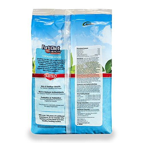 Kaytee Forti-Diet Pro Health Cockatiel food with Safflower, 4 lb