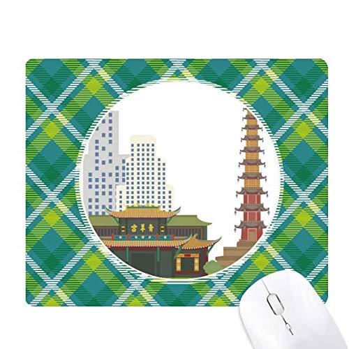 Architecture Qingyang Palace - Alfombrilla para mouse, diseño de rejillas de celosía