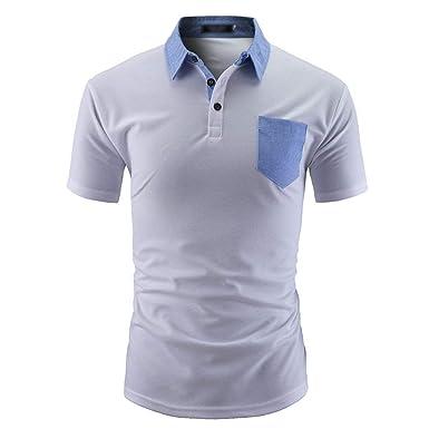 Camiseta De Polo para Hombre con Ajuste Camiseta Manga De Slim Fit ...