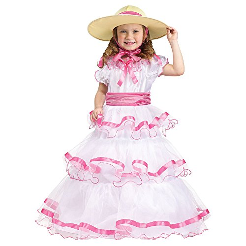 Fun World Costumes Baby Girl's Sweet Southern Bell Toddler Costume, Pink/White, (Belle Bell)