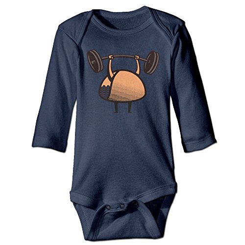 STARLY Will Lift For Tacos Newborn Baby Long Sleeve Climbing Clothes Infant Rompers (Breakfast Christmas Office Invitation)