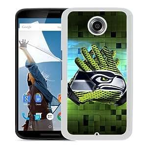seattle seahawks 1 White Recommended Customized Design Google Nexus 6 Case