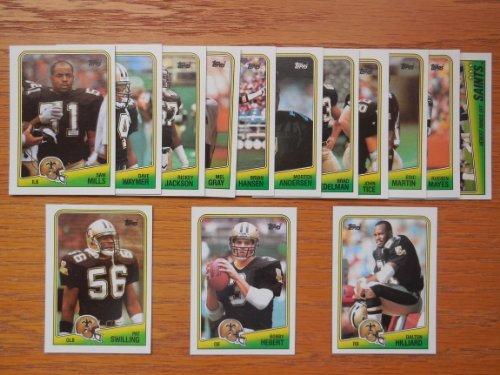 New Orleans Saints 1988 Topps Football Team Set (Sam Mills Rookie) (Pat Swilling Rookie) (Dalton Hilliard Rookie) (Bobby Herbert) (Rueben Mayes) (Morten Andersen) (Rickey Jackson)