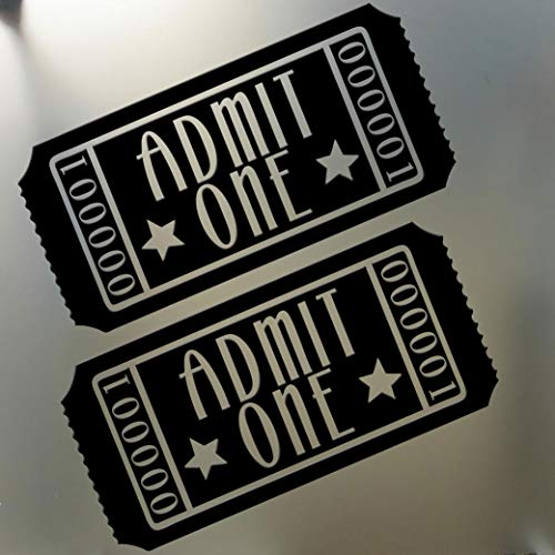 Admit One Home Theater Wall Decal Sticker, Black ()