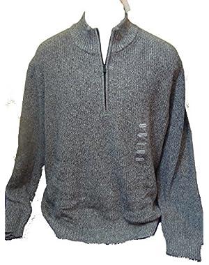 Calvin Klein Men's Long Sleeve Half-zip Sweater Medium Light Grey Heather