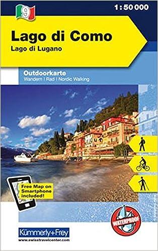 Lago Di Como Lago Di Lugano Outdoor Karte Italien Nr 9 1 50 000