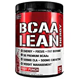 Evlution Nutrition BCAA Lean Energy – Energizing Amino Acid for Muscle Building Recovery and Endurance, with a Fat Burning Formula, 30 Servings (Fruit Punch) For Sale
