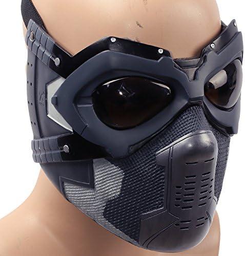 Soldier Mask Cosplay Bucky Full Face Cosplay Costume Adult Men Halloween Fancy Dress Merchandise Prop