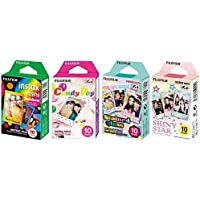 Fujifilm InstaX Mini Instant Film Rainbow & Staind Glass & Candy Pop & Shiny Star Film -10 Sheets…