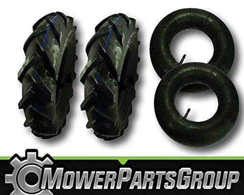 MowerPartsGroup D071 (2) Troy Bilt Big Red Garden Tiller Tires 4.8x4x8 4.8x4-8 MTD & Tubes