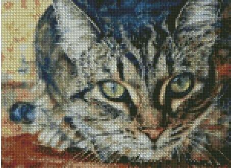 I see you, Cat counted cross stitch kits, 150x110stitch 37x3