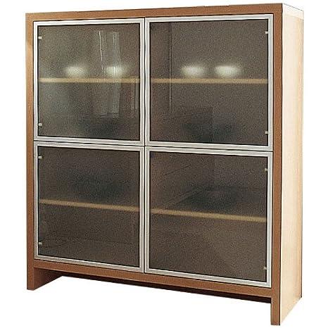 Madia soggiorno 4ante vetro mobile soggiorno ciliegio chiaro BS8206 ...