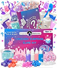 Original Stationery Mystery Slime Kit Surprise - DIY Slime Supplies Kit with Mystery Slime Box Add Ins for Flu