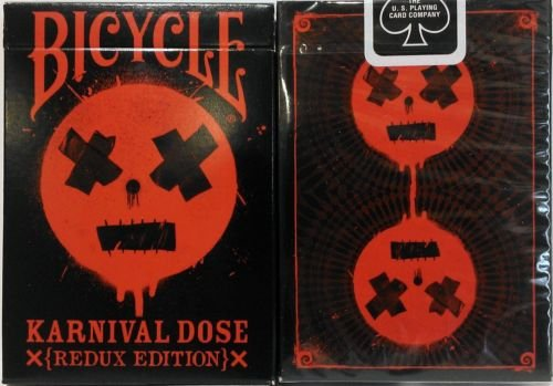 (Karnival RED Dose Deck Playing Cards -Redux Edition (Ltd Ed) Rare Bicycle 1 Deck)