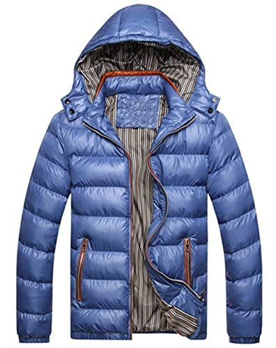 Down Hood Hooded Blue Outwear Long Coat Down Coat Fashion Jacket Young Quilted Jacket Ultralight Warm Winter Alternative Waterproof Sleeve Men's XHnO4xE