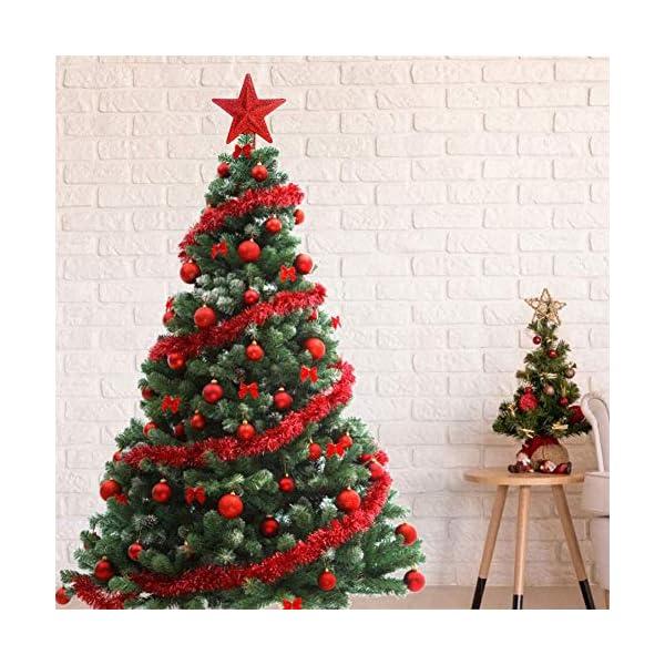 ZHOUZHOU 24 Pezzi 4cm Palle di Natale,Palline di Natale,Albero di Natale Palla Decorazioni,Palle Albero di Natale,Ornamenti di Palla di Natale,Natalizie Plastica Palle (Rosso) 4 spesavip