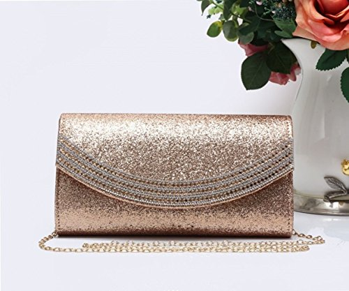 Clutch Diamante Women Clutch For Party 1704 LeahWard Bag New Women's Gold Evening Prom Glitter Wedding w8nqx6BXt