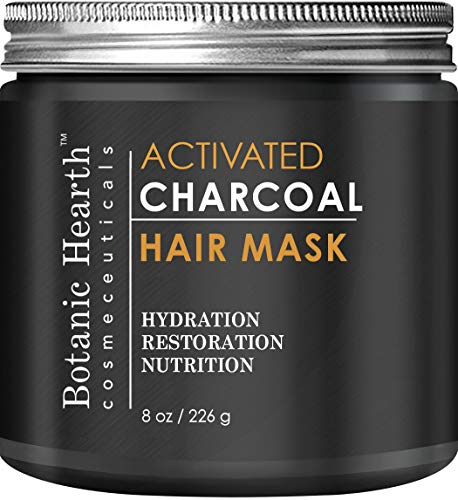 Botanic Hearth Charcoal Hair Mask - Natural Hair Care Product, Hydrating & Restorative Hair Mask, 8 fl oz by Botanic Hearth