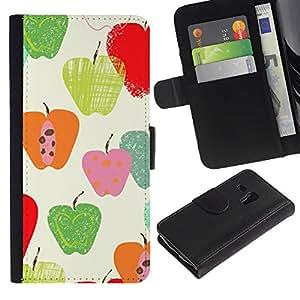 Patrón de la caída del otoño Naturaleza Verde- la tarjeta de Crédito Slots PU Funda de cuero Monedero caso cubierta de piel ParaSamsung Galaxy S3 MINI i8190 (NOT S3)