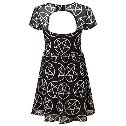 Minikleid Mini Kleid Schwarz Pentagramm Hayley Hex Chiffon Damen Killstar Tea E0PxqfO0w