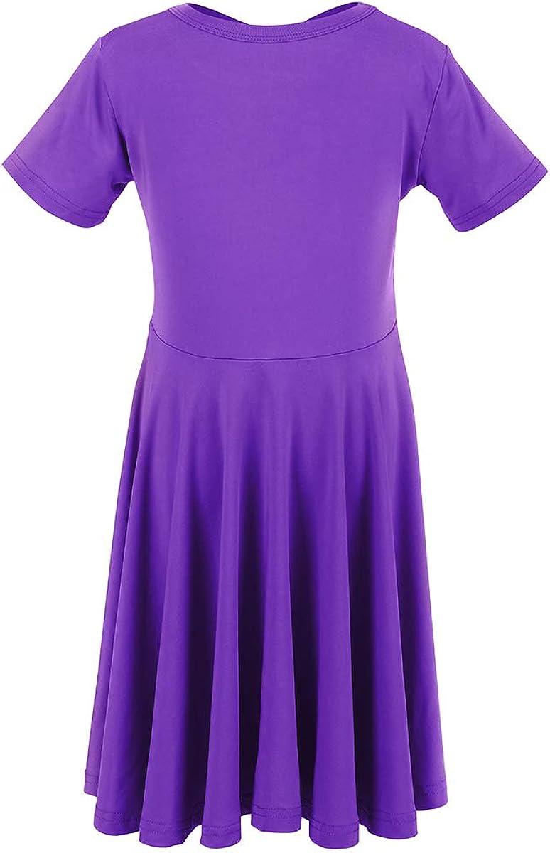 Girls Twirly Skater Party Sleeveless Dress Tank A-line High Waist Swing Casual Princess Sundress for School Play Holiday