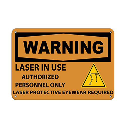 Laser In Use Authorized Only Protective Eyewear Required LABEL DECAL STICKER Sticks to Any Surface - Rain Eyewear City