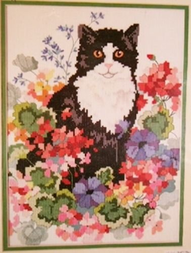 Dimensions Flower Patch No Count Cross Stitch Kit