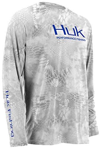 HUK H7000001-YT1-YM Huk Youth Kryptek Icon Long Sleeve Jacket, Yeti, Medium