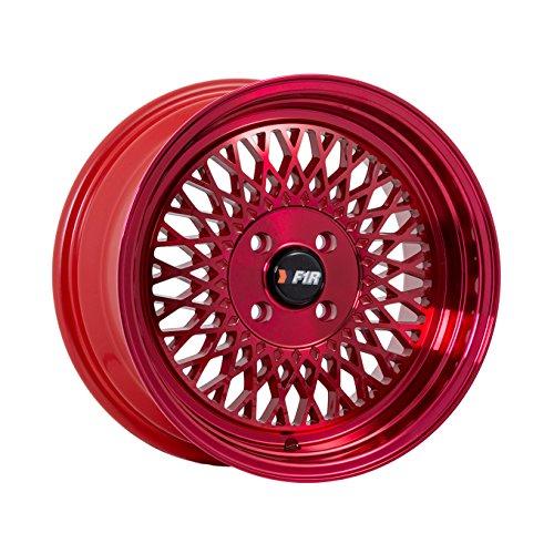 15 8 Lug Rims (15x8 F1R F01 Red Rim Offset(25) Lug(4x100) Bore(67.1) 1 Wheel -- F011584HR25)
