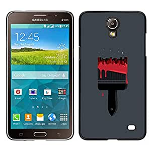Stuss Case / Funda Carcasa protectora - Pintura Pincel Rojo Arte Dibujo - Samsung Galaxy Mega 2