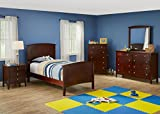 Fulton Cherry 5 Pc. Twin Bedroom Furniture Set With Free Chest