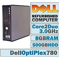 Dell OptiPlex 780 SFF/Core 2 Duo E8400 @ 3.00 GHz/8GB DDR3/500GB HDD/DVD-RW/WINDOWS 10 HOME 64 BIT (Certified Refurbished)