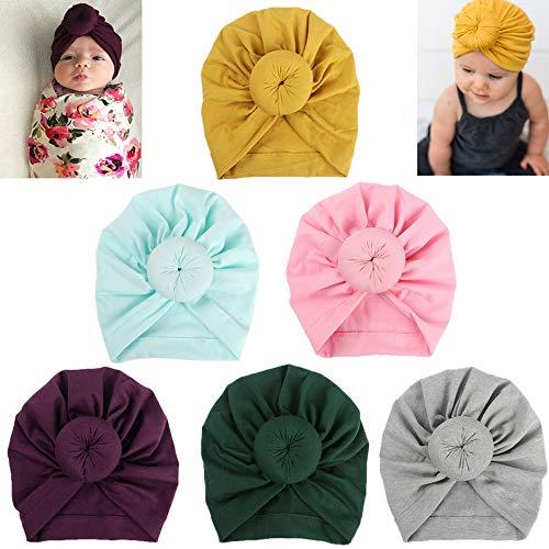 4c49e29410c Baby Cotton Head Wrap Gilrs Elastic Knot Headbands Nursery Beanie Kids Cap
