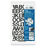 Chartpak Vinyl Letters and Numbers - 12 Numbers, 76 Capital Letter - 1'' - Black