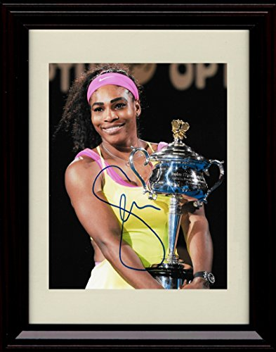 - Framed Serena Williams Autograph Replica Print - Serena Slam!