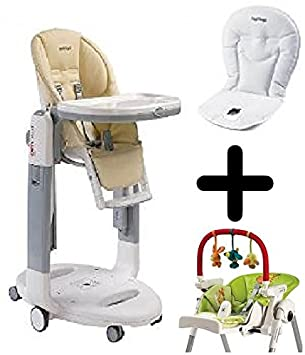 Amazon.com: Peg Perego Tatamia – Trona W Color Blanco Cojín ...