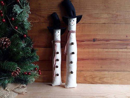 Primitive Snowman Bowl Fillers, Ornies, (Primitive Ornies Bowl)