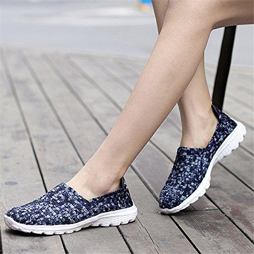 Mujer AIRAVATA Zapatillas SH075 Blau2 para wtYtTZq