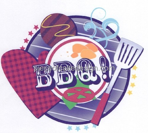 BBQ! Cookout ~ Edible Cake (Bbq Decorating Ideas)
