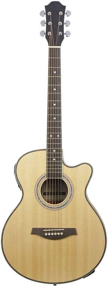 LVSSY-40 Guitarra Acústica,Guitarra Acústica EQ Guitarra Acústica Electroacústica Adecuado para Principiantes Actuaciones Profesionales Todo Tipo de Amantes de La Música